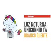 Luz Noturna Led Abajur Infantil Unicórnio 1w Avant 3000k