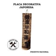 Placa Ideogramas Japoneses Decorativa Incensário - Artesanal