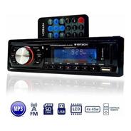 Toca Radio Fm P/ Carro Mp3 Automotivo Usb Sd Aux Player Som