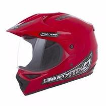 Capacete De Moto Cross Com Viseira Pro Tork Mx Pro Vision 58