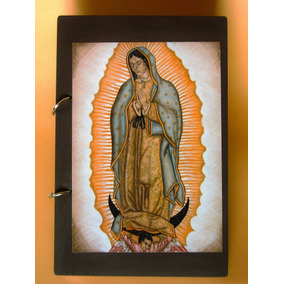 Carpeta Con Imagen De La Virgen De Guadalupe 22 X 14.5 Cm.