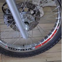 Kit Adesivo Refletivo Roda M01 Moto Honda Bros 160 125 150
