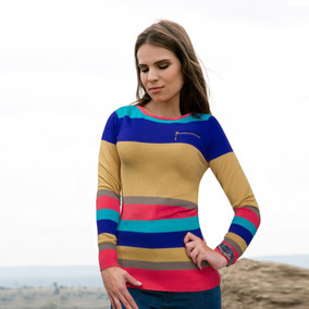 Sweater Casual Sao Paulo T200 Multicolor Dama
