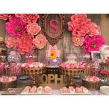 Hermosas Flores De Papel Para Candy Bar