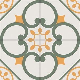 Mosaico Verde 50x50 1ra Alberdi Totos Ceramica Con Dibujo