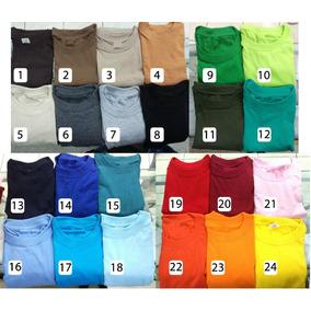 Camiseta Color Algodon Cuello Redondo Fabrica Nacional