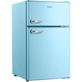 Galanz 3.1 Cu Ft Double Door Blue Cabinet And Door Retro