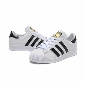 Zapatillas Adidas Negra Con en Rayas Blancas Urbanas Zapatillas en Con 401aeb