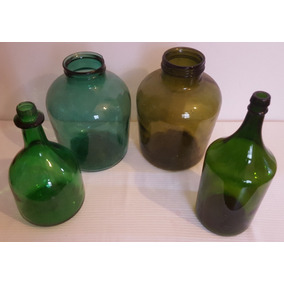 Lote De 4 Botellones Antiguos Botella Vintage Retro