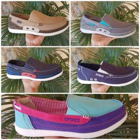 Crocs Zapatos Walu, Lona, Santa Cruz Originales Nuevos