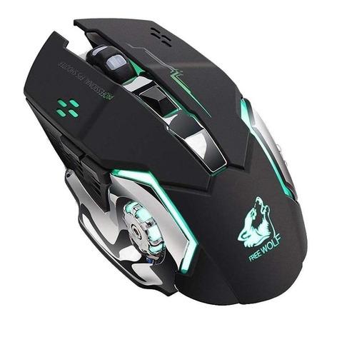 Mouse de juego inalámbrico Free Wolf X8 black