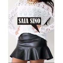 Saia Sino Courino/couro Sintetico/neoprene/lindas -promoção