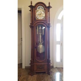 Fantástico, Enorme Relógio Modelo Pedestal Com 3 Melodias