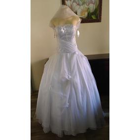Vestido De Noiva Princesa Tomara Que Caia Com Bolero