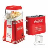 Set De Máquina De Palomitas+máquina De Hotdog Retro Cocacola