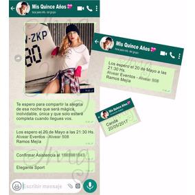 Invitaciones Tarjetas Original 15 Años Casamientos Whatsapp