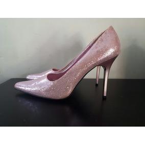 Zapatos Unicos Glitter Pink Importados 38 Impecables