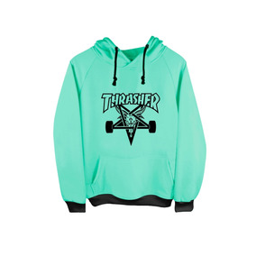 Sudadera Hoodie Thrasher Skate Naranja-menta-rosa Enviograti