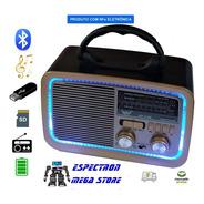 Radio Portátil Retro Am Fm Altomex Ad-3188 110v/220v/bateria