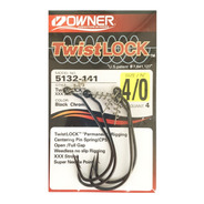 Anzuelo Offset Owner 5132-141 Twist Lock 4/0 Pesca Tarairas