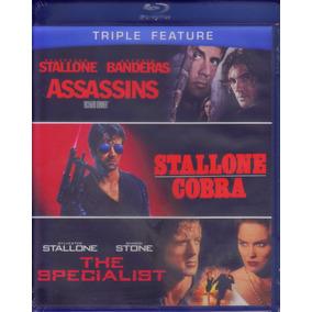 Blu-ray Assassinos / Cobra / O Especialista Lacrado Stallone