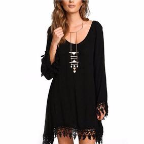 Vestido De Playa Negro Talla 4xl Envio Gratis