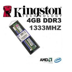 Memória Kingston Ddr3 4gb 1333 Mhz Pc3 10600 P/ Pc Desktop