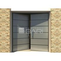 Puerta Doble Bari Loft Plata Chapa 18 Inyectada 200x220 Cm