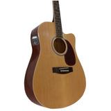 Guitarra Electroacustica Jumbo Eq 4 Y Afinador Incorporado