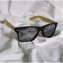 Óculos De Sol De Madeira/bamboo 10% Off + Brinde Saquinho