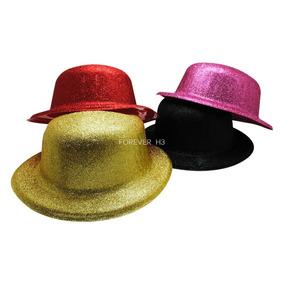 12 Sombreros Bombin Con Brillos Colores Docena Fiesta Boda 3b507584674