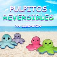Pulpo Pulpito Reversible De Peluche De Colores + Regalo