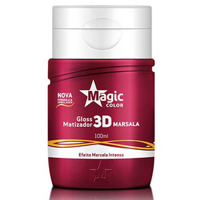 Gloss Matizador 3d Marsala Vermelho Magic Color 100ml