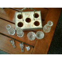 Cristal Juego Aceitera Vinagrera Antiguo