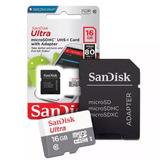 Cartão Micro Sd 16gb Sandisk Classe 10 - Original Lacrado