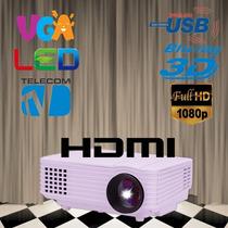 Projetor De Led 3d 2000 Lúmens Full Hd 1080p + Brinde