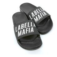Chinelo Slide Labellamafia Letreiro Prateado Original