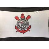 Bandeira Corinthians Tecido Preta E Branca 1,70x1,30 Mts