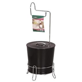 Lixeira Com Porta Papel Higiênico Aço Inox