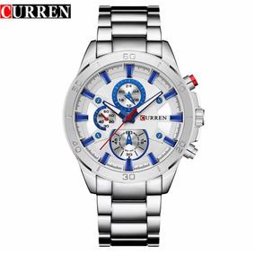 761f69b9994 Relógio Curren Original Novo Tipo Armani E Rolex