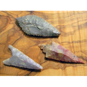Punta Lanza Flecha De Piedra Para Colección O Joya