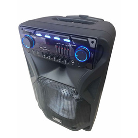 Caixa Som Amplificada 400wrms Usb Sd Fm Aux Microfone S Fio