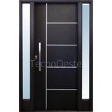 Puerta Portada Doble Nexo Lateral Vidriada Grafito 5 Tablero