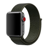 Pulseira Nylon Sport Loop P/ Apple Watch 42/44mm Cargo Khaki