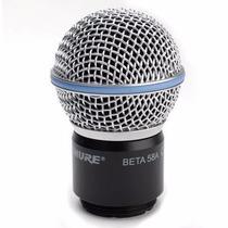 Capsula Microfone Sem Fio Shure Beta 58 A Import Original.