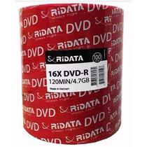 100 Midia Dvd-r Virgem Ridata C/logo 16x 4.7g - Lacrado