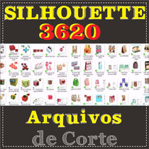Kit 620 Caixas + 3 Mil Arquivos De Corte Para Silhouette