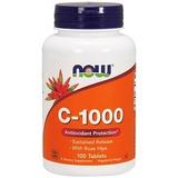 Now Foods Vitamina C 1g 100 Cap Com Rose Hips