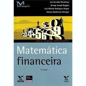 Livro Matemática Financeira Luís Geraldo Mendonça E Outros