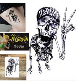 Tatuagem Grande Colorida E P/b Novas... Estilo Rock